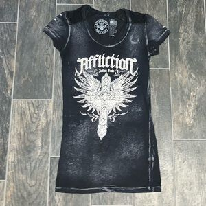 Affliction Women's Embellished Graphic T-shirt